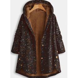Berrylook Cotton coat ethnic style retro small floral plus velvet cotton coat online sale, online shopping sites, camel coat women's, womens jackets sale