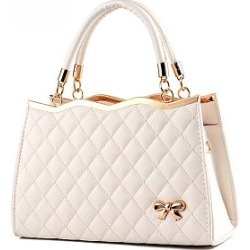 Berrylook Quilted Bowknot Plain Pu Shoulder shoping, clothes shopping near me, embossed Shoulder Bags, found on Bargain Bro from Berrylook for USD $15.92