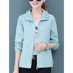 Berrylook Casual Turndown Collar Pure Colour Jacket online shop, shoppers stop, plain Jackets, warm jackets for women, womens jackets sale