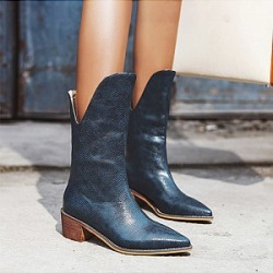 Berrylook Fashion pointed middle heel women's Boots stores and shops, online sale, Solid High Heels Boots,