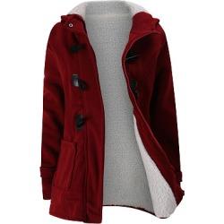 Berrylook Hooded Fleece Lined Patch Pocket Plain Coat online sale, sale, Long Coats, womens light jacket, warm jackets for women