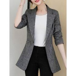Berrylook Women's Elegant British Pure Thin Skinny Blazer cheap online stores, shoping, Solid Blazers, black blazer, navy blue blazer women