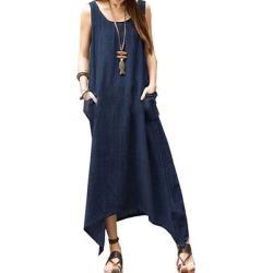 Berrylook Round Neck Patch Pocket Plain Maxi Dress online sale, sale, Fitted Maxi Dresses, vintage dresses, black maxi dress