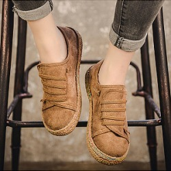 Berrylook Plain Flat Elastic Round Toe Casual Flat & Loafers clothing stores, online stores, found on Bargain Bro from Berrylook for USD $11.88