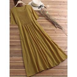 Berrylook Round Neck Plain Maxi Dress sale, shoping, Oversized Maxi Dresses, casual maxi dresses, sheath dress