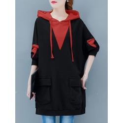 Berrylook Casual Colouring Long Sleeve Hoodie online sale, sale, Colouring Hoodies, hoodie, hoodie shirt