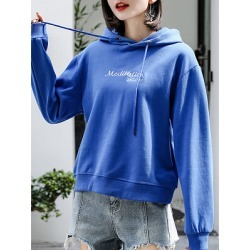 Berrylook Fashion Letter Hoodie clothing stores, clothes shopping near me, cool hoodies, cheap hoodies