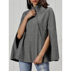 Berrylook Women's Fashion Twill Woolen Cape Cloak shoping, clothing stores, Solid Coats, warmest winter coats, army jacket womens found on Bargain Bro Philippines from Berrylook for $28.95