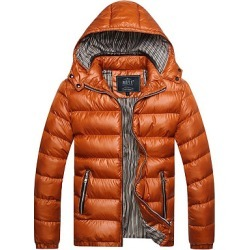 Berrylook Hooded Quilted Striped Zips Pocket Men Padded Coat clothing stores, clothes shopping near me,