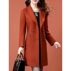 Berrylook Fold-Over Collar Plain Coat clothing stores, online stores, black coat womens, black jacket womens