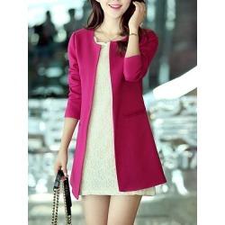 Berrylook Longline Collarless Pocket Plain Blazer cheap online shopping sites online sale Plain Blazers blazer jacket fitted blazer womens