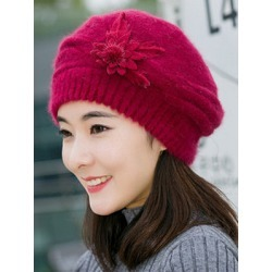Lady Elegance  Fashion Faux Fur Plain Polyamide Hats For Winter