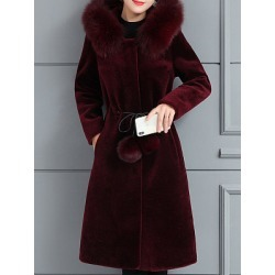 Berrylook Hooded Plain Coat online online sale mens coats sale womens hooded winter coats