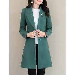 Berrylook Notch Lapel Plain Single Breasted Coat online, shoping, Solid Coats, mens coats sale, fall jackets