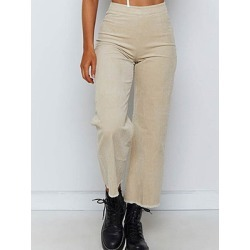 Berrylook Fashion high waist solid color corduroy casual pants sale, shoping, found on Bargain Bro from Berrylook for USD $20.48