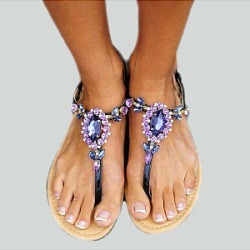 Berrylook Flat Sandals clothing stores, clothes shopping near me, Bohemian Flat Sandals,