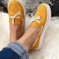 Berrylook Casual Women Solid Color Lace-up Flat Sneakers clothes shopping near me, sale, Solid Sneakers,