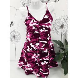 Berrylook Spaghetti Strap Printed Shift Dress online sale, sale, printing Shift Dresses, black long sleeve shift dress, shift dress