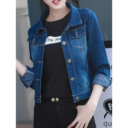 Berrylook Denim jacket outer long sleeve coat sale, clothing stores, womens casual jackets, red leather jacket womens found on Bargain Bro India from Berrylook for $21.95