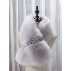 Berrylook Warm Faux Fur Fashion Scarf online sale, clothes shopping near me,