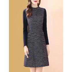 Berrylook Round Neck Printed Shift Dress sale, cheap online shopping sites, printing Shift Dresses, linen dress, womens linen clothing