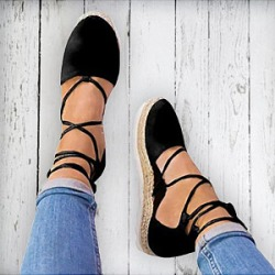 Berrylook Plain Flat Velvet Ankle Strap Round Toe Casual Date Flat Sandals sale, online shopping sites,