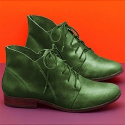 Berrylook Women's Round Toe Casual Leather Boots sale, cheap online stores, Snake Ankle Boots,