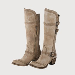 Berrylook Fashion ladies carving belt buckle high boots shoppers stop, online shop, Solid High Heels Boots,