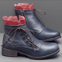 Berrylook Casual Low Heel Belt Side Zipper Plain Boots clothes shopping near me, sale,