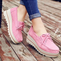 Berrylook Plain Mid Heeled Velvet Round Toe Date Sneakers clothing stores, clothes shopping near me,