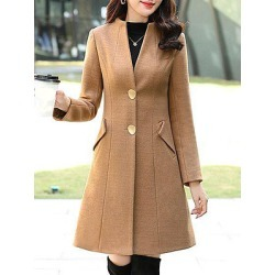 Berrylook Collarless Plain Coat stores and shops, clothing stores, ladies jacket, womens winter jackets canada