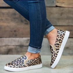 Berrylook Casual Leopard Print Roud Toes Flat Loafers clothing stores, clothes shopping near me, leopard Sneakers,