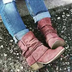 Berrylook Women's casual solid color ankle straps boots shoping, stores and shops, found on Bargain Bro India from Berrylook for $31.95