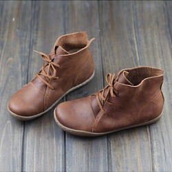 Berrylook Plain Flat Round Toe Casual Outdoor Flat Boots clothing stores, clothes shopping near me,