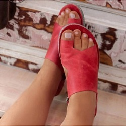 Berrylook Europe and the United States solid color women toe sandals online, fashion store,