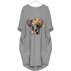 Berrylook Round Neck Slit Pocket Plain Shift Dress sale, online stores, shirt dress, semi formal dresses found on MODAPINS from Berrylook for USD $20.95