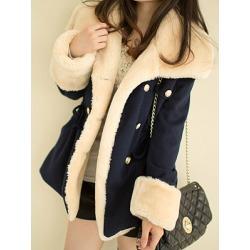 Berrylook Lapel Double Breasted Drawstring Woolen Coat online, shoppers stop, womens cape coat, parka jacket women