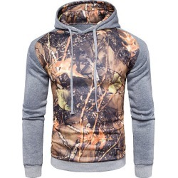 Berrylook Fitted Color Block Printed Men Hoodie stores and shops, online shop,
