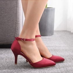 Berrylook Stiletto pointed satin heeled sandals clothing stores, clothes shopping near me,