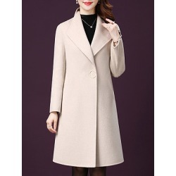 Lapel Plain Coats