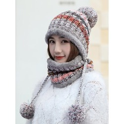 Berrylook Lady Korea Style Fashion Warm Two Piece Hats For Winter stores and shops, online stores, found on Bargain Bro India from Berrylook for $14.95