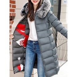 Berrylook Hooded Printed Coat clothing stores, shop, womens winter jackets canada, best winter coats