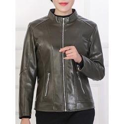 Berrylook Ladies Fashion Leather Jacket clothing stores, shop, Solid Jackets, womens winter parka, womens winter jackets canada