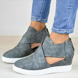 Berrylook Plain Velvet Round Toe Casual Ankle Ankle Boots clothing stores, clothes shopping near me,