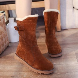 Berrylook Ladies casual warm winter non-slip round head snow boots online sale, stores and shops,