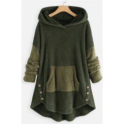 Berrylook Casual Colouring Long Sleeve Hoodie online sale, sale, Colouring Hoodies, hoodies, cool hoodies