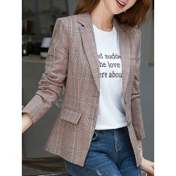 Berrylook Temperament was thin suit Blazer cheap online stores, sale, Long Blazers, womens blazer jacket, navy blue blazer women
