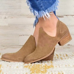 Berrylook Fashion casual low barrel pure color women's Boots clothing stores, sale, Solid Ankle Boots,