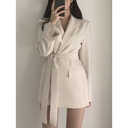 Berrylook Notch Lapel Single Button Plain Blazer shoping, online shop, mens coats sale, long jackets for women