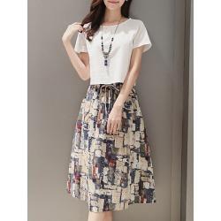 Berrylook Sailor Collar Patch Pocket Printed Maxi Dress online sale, sale, Oversized Maxi Dresses, long red dress, vintage dresses